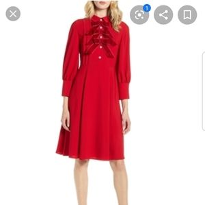 Halogen Atlantic x Pacific bow dress in chili red